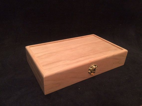 Unfinished Wood Box with Hinges & Latch-10 x 6 x 2-unfinished wood box-ready to finish-engravable wood box-personalized laser engraving