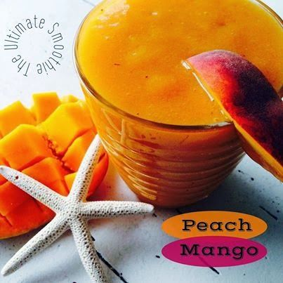 Peach Mango Smoothie perfect for the first day of spring!
