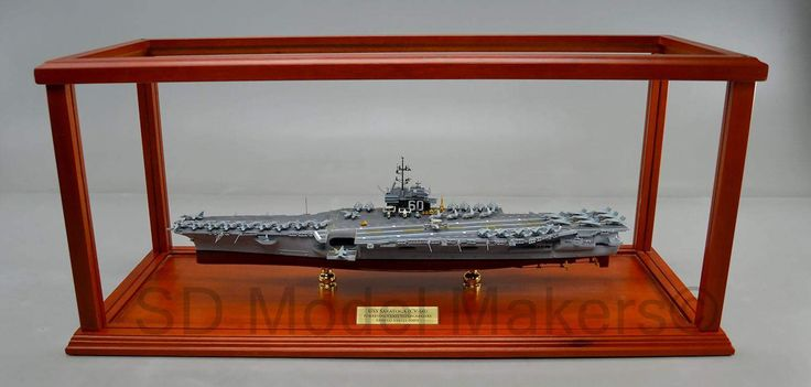 "24"" USS Saratoga (CV-60) with Mahogany framed display case   USS Saratoga (CV/CVA/CVB-60), was the second of four Forrestal-class supercarriers built for the United States Navy in the 1950s. Saratoga was the sixth U.S. Navy ship, and the second aircraft carrier, to be named for the Battles of Saratoga in the American Revolutionary War. SD Model Makers builds replica ship models in virtually ANY size or scale desired! Contact us for a quote. www.sdmodelmakers.com"
