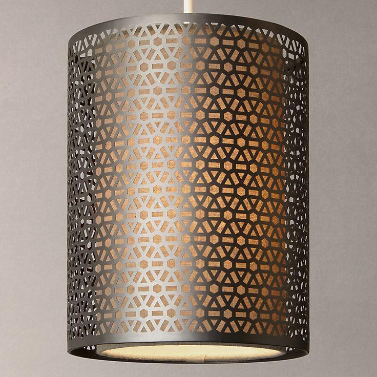 John Lewis Meena Easy-to-Fit Pendant Light, Brushed Steel
