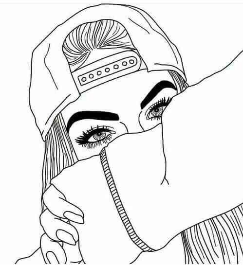 dessins de fille tumblr  | art, black and white, cool, doodle, drawing, easy, eyebrows, fashion ...                                                                                                                                                      Más