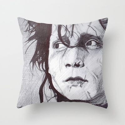 """THROW PILLOW/ INDOOR COVER (16"""" X 16"""")  DeMoose_Art (demoose21) Edward Scissorhands by DeMoose_Art $20.00 Free Worldwide Shipping Available Today!"""