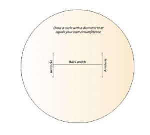 how to measure for cutting armholes in circle vest