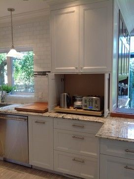 Kitchen Concealed Counter Storage Kitchen Design Ideas, Pictures, Remodel and Decor