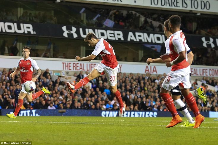 Mathieu Flamini volleys Arsenal ahead with a stunning volley as the Gunners beat north Lon...