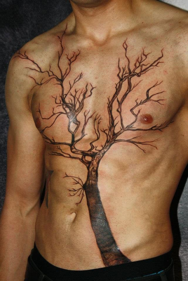 Awesome tree tattoo for men