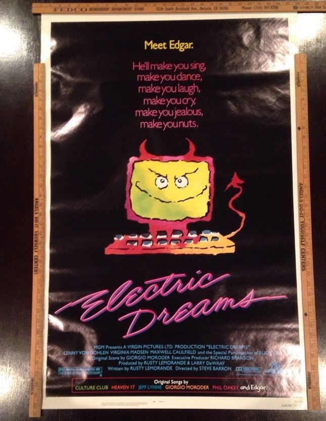 Electric Dreams Maxwell Caulfield Virginia Madsen 80S Computer Film Poster New