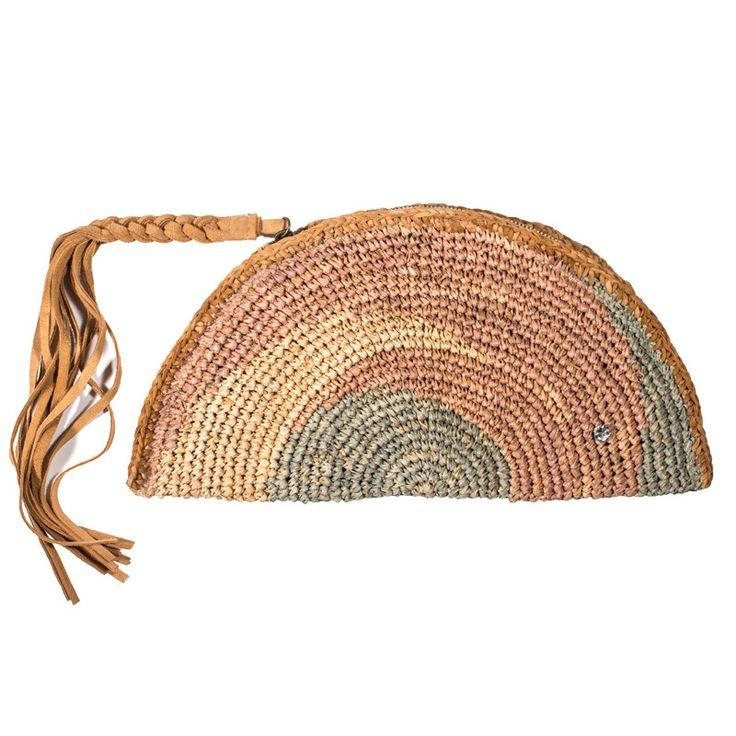 "Flora Bella Crochet Raffia Clutch - ""Ormond"""