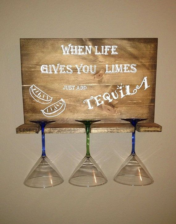 3 Margarita glasses display sign by KnottyPineWoodworks1 on Etsy