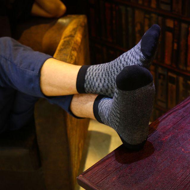 new men's cotton socks High-end business gentleman male socks Jacquard lattice male socks Absorb moisture breathable male socks