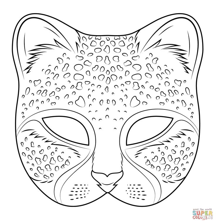 Cheetah Mask | Super Coloring                              …