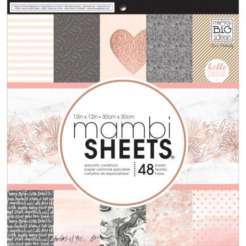 Mambi - pack mambi sheets rose gold