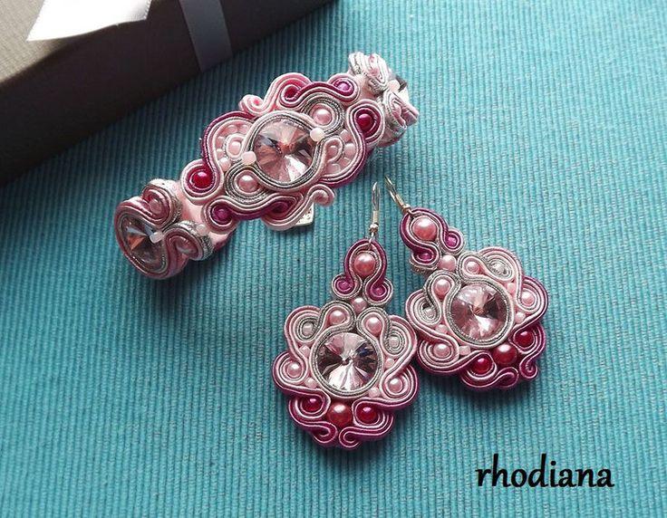 Odcienie Róży- komplet sutasz  - rhodiana - Bransoletki