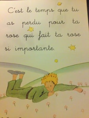 """""""It is the time you have wasted for your rose that makes your rose so important."""" -Le Petit Prince"""
