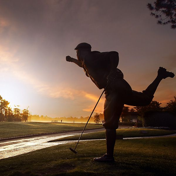 Payne Stewart statue at Pinehurst ...
