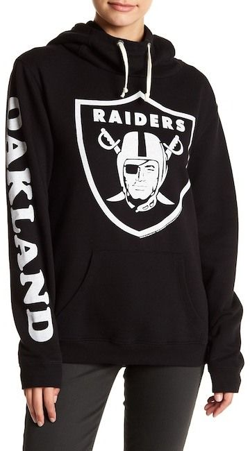 "$34.97 - JUNKFOOD Oakland Raiders Hoodie - This Oakland Raiders pullover hoodie offers a warm drawstring hood and bold team graphics. Machine wash 60% cotton, 40% polyester Drawstring hood Front graphic, single sleeve graphic Approx. 26 inches"" length (size S) Imported"