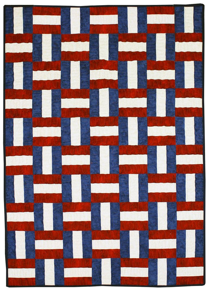 """Freedom Ribbons By Fishel, Rita  - 42in x 60in Quilt of Valor Friendly with border. Uses Creative Grids CGR612. Project Time: 2-6 Hour, Fabric Type: Fat Quarter, Strip and Yardage Friendly, Project Type: Quilt  CLP patterns are printed on 8-1/2"""" x 11"""", anti-copy card stock. Because they are customized with your shop's name, phone"""