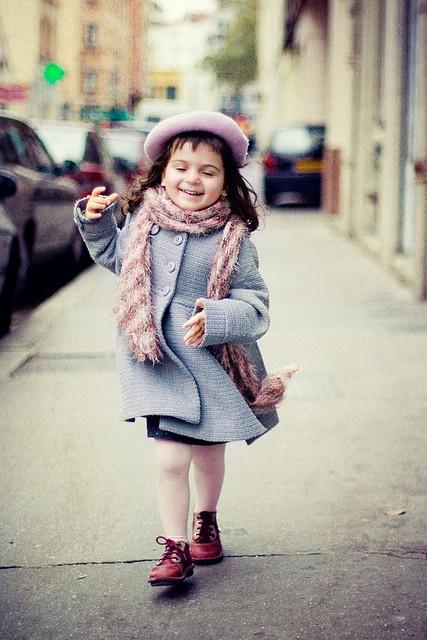 Little Parisian ; )...looks like your granddaughter.