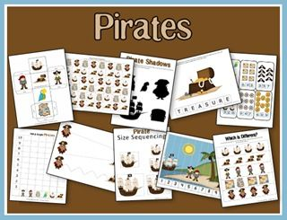 An entire Pirate Unit for free!Preschool Pirate, Pirates Activities, Pirates Preschool, Pirates Printables, Preschool Printables, United Study, Pirates United, Pirate Theme, Pirates Theme