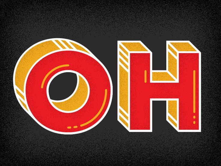 "Chunky ""OH"" #type #typography #displayfonts #fonts"