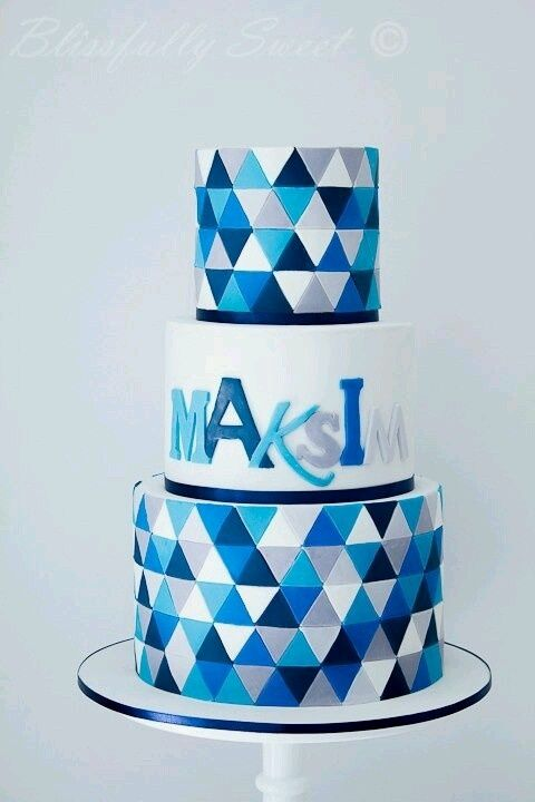 birthday cake geometric - Cerca con Google