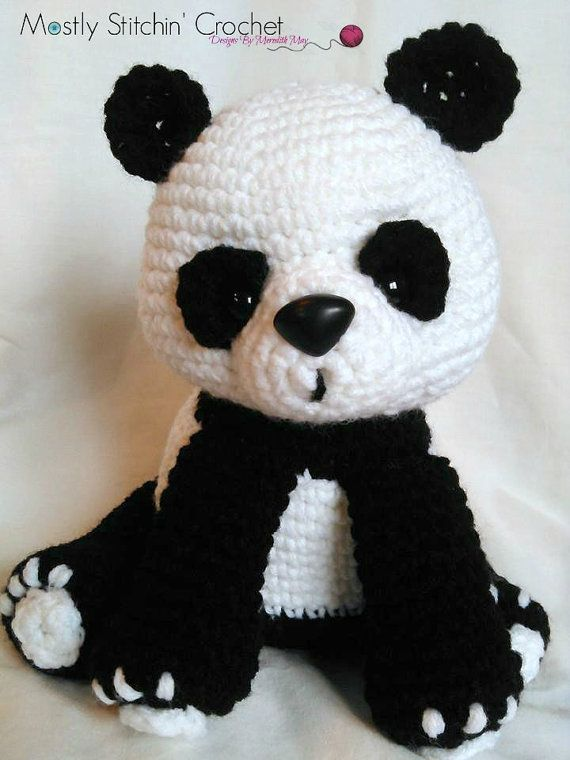 PLEASE NOTE YOU ARE NOT PURCHASING A FINISHED ITEM!!!!!!!!!!  NO REFUNDS WILL BE ISSUED ONCE THE PATTERN IS SENT  Cuddly and sweet this Panda Bear Pattern is just waiting to cuddle! Fun to make, perfect as a gift to yourself or anyone who loves Pandas! This pattern is one of my favorites and I think it will become one of yours too!  The pattern is written in English, using US crochet terminology. I included detailed instructions, many step-by-step photos and useful tips and notes…