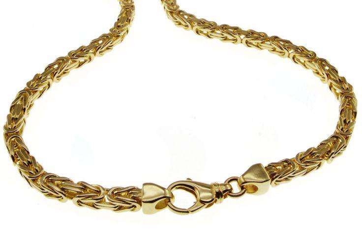 Mach dein eigenen Preis !!! Klasse Echte 50cm Königskette 585 Gelbgold 3,0mm Massiv Edel Neu Halskette
