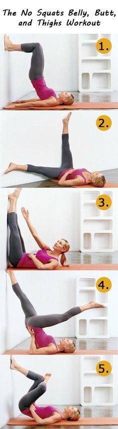 The No Squats Belly, Butt, and Thighs Workout. Fast & easy little exercise circuit