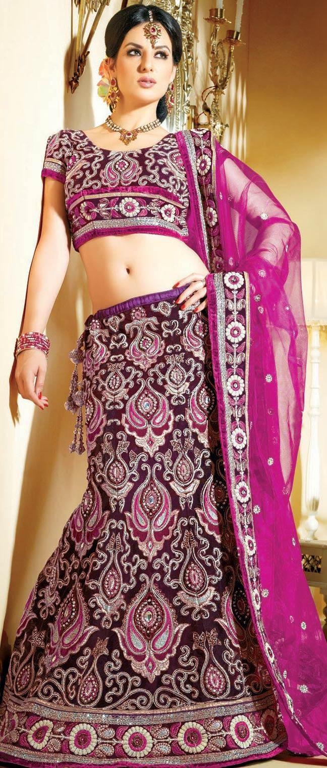 Magenta Net A-Line Lehenga Choli with Dupatta @ $258.62 | Shop Now @ http://www.utsavfashion.com/store/sarees-large.aspx?icode=ldw362