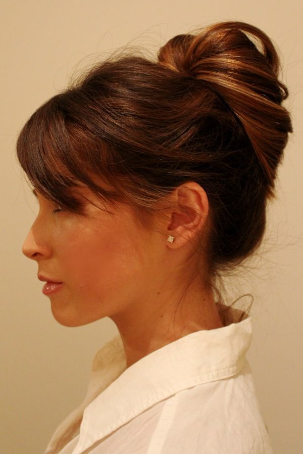 Inside out pony tail technique-quick updo for days I don't want to spend time on my hair