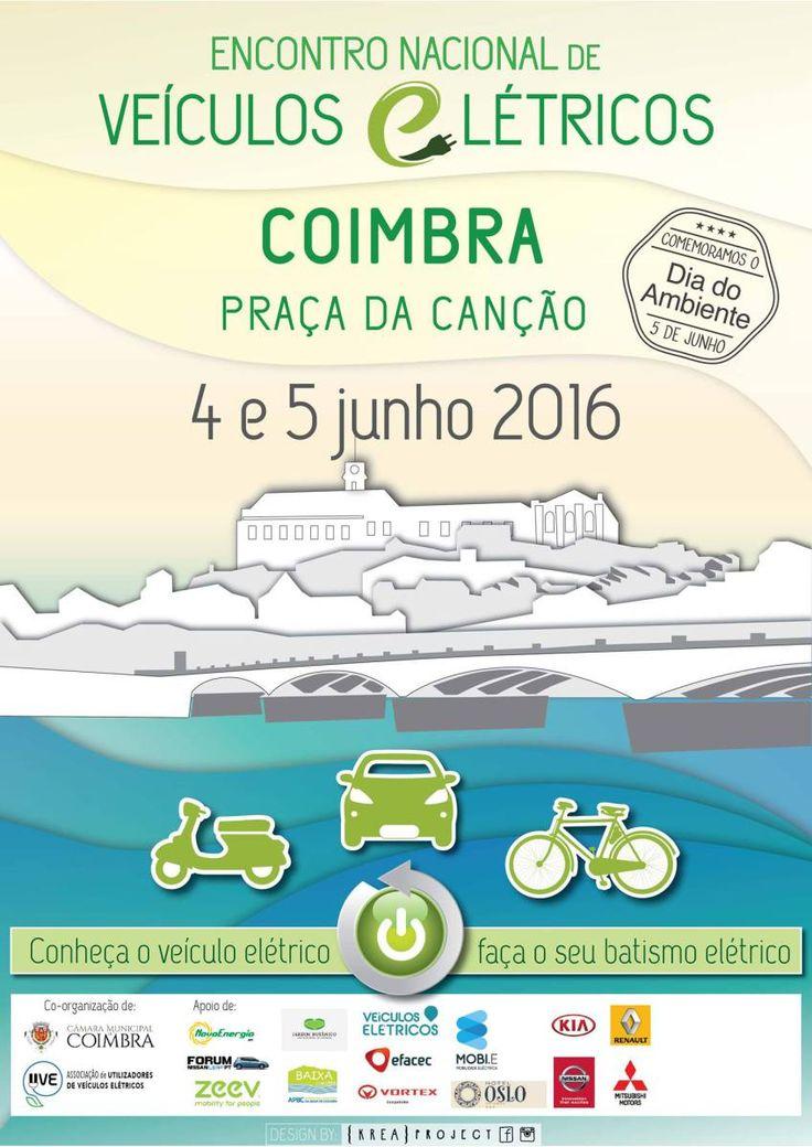 4º Encontro Nacional de Veículos Elétricos, desta vez em #Coimbra - #Solar #EnergiasRenovaveis
