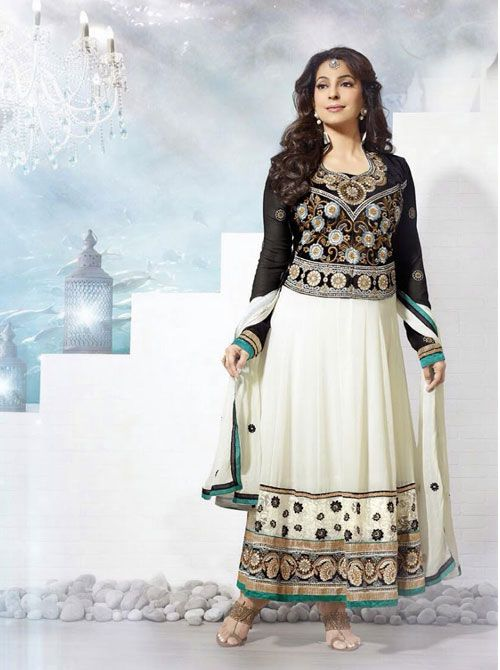 SV-KA0184 at JUST @ $74 Buy at http://www.shopvhop.com/product/white-black-juhi-chawala-designer-collection-16001/
