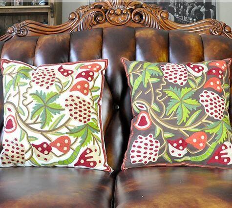 Venta al por mayor estilo étnico cojines decoración para el hogar mano cojín decorativo cubiertas retro de lana bordada fundas de almohada envío gratis