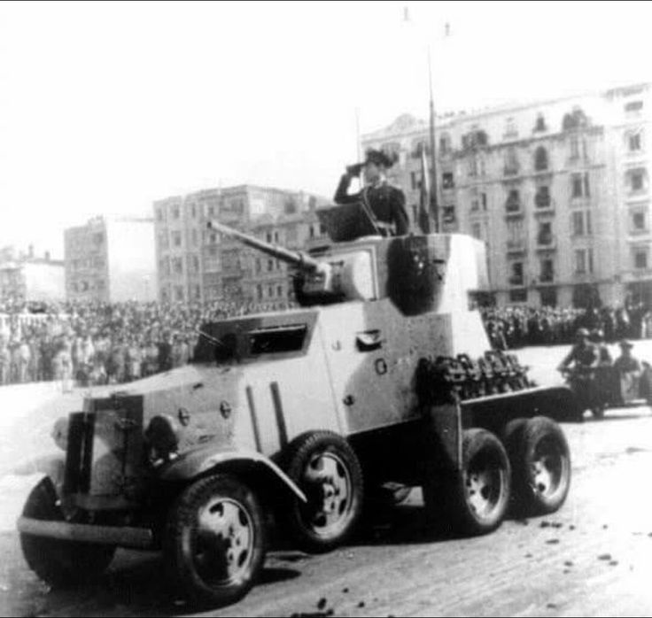 Turkish Army BA-6 Armored Vehicle in Ankara for military parade.This vehicle was sent for the tenth year of Turkish Republic by USSR.