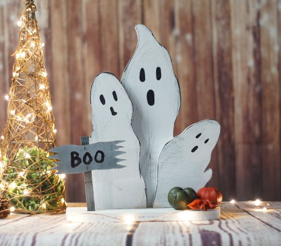 Reclaimed Wood Ghosts, Rustic Halloween Decor, Primitive Ghost, Wooden Ghost, Primitive Halloween, Rustic Home Decor, Halloween Decoration   $30.00