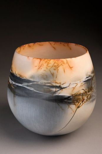 Ceramics by June Ridgway at Studiopottery.co.uk - 2010. Height 160mm burnished, saggar fired
