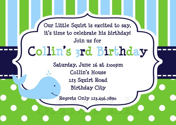 Whale Birthday Invitation Whale Baby Shower by TheTrendyButterfly, $15.00