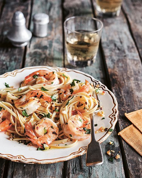 Pasta with Shrimp, Garlic, and Parsley recipe from Treme: Stories and Recipes from the Heart of New Orleans