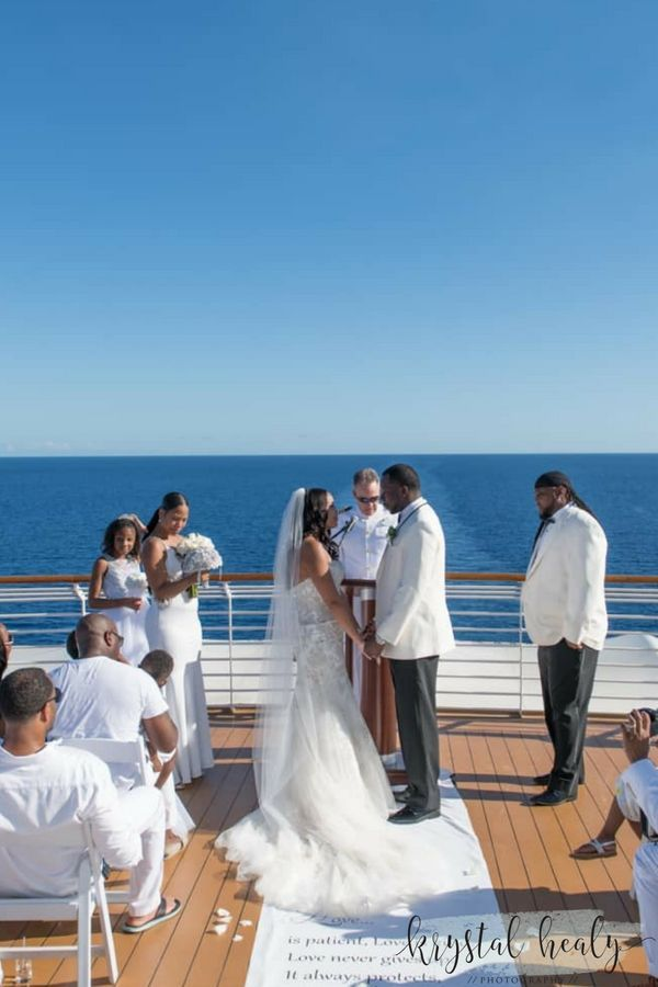 Disney Magic Vow Renewal Krystal Healy Photography Disney Cruise Wedding Cruise Wedding Ceremony Carnival Cruise Wedding