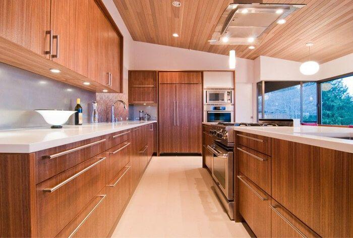 Wood Veneer Kitchen Cabinet Outdoor Kitchen Countertops Modern Kitchen Design Modern Kitchen Cabinets