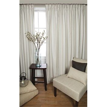 Pencil Pleat Curtains - Briscoes - Classic Living Oxford Stripe Pencil Pleat Curtains Pair