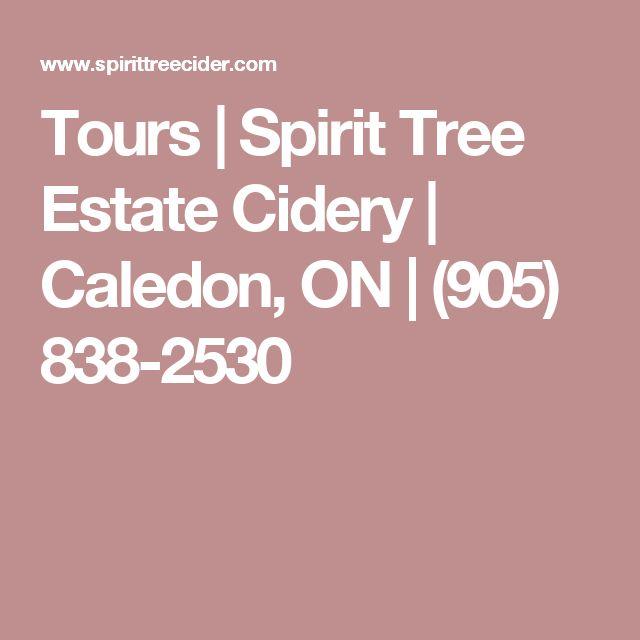 Tours | Spirit Tree Estate Cidery | Caledon, ON | (905) 838-2530