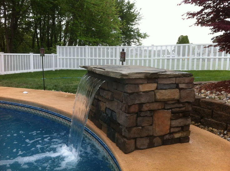 Best 25 pool water features ideas on pinterest backyard - Swimming pool waterfalls water features ...