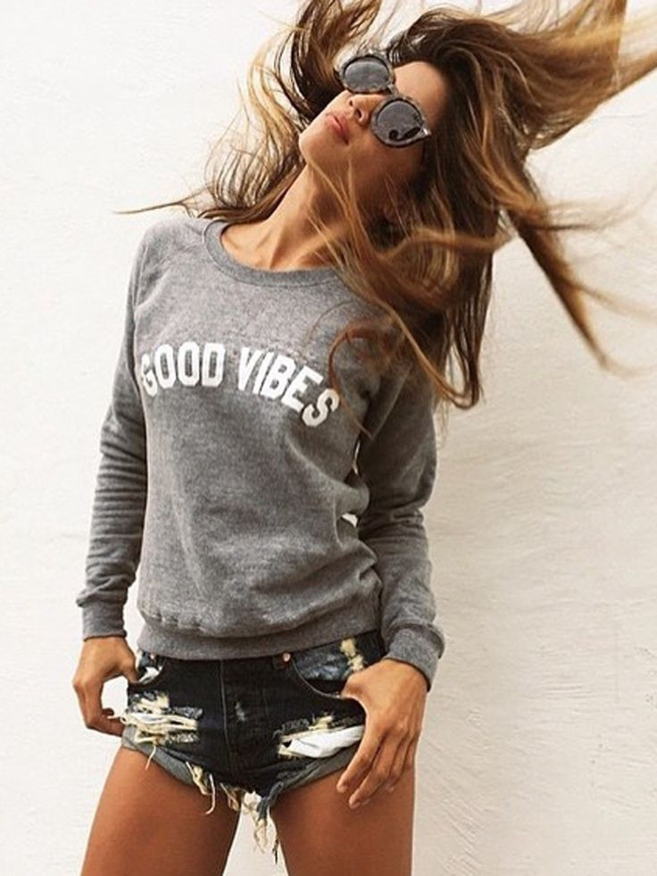 Suburban Riot Good Vibes Unisex Sweatshirt in Heather Grey as seen on Rocky Barnes