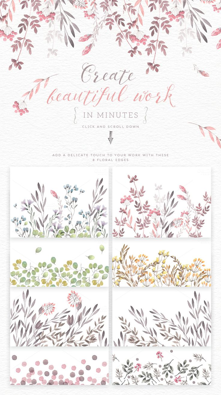 Love the artistic feel, the gentleness of watercolors. Like these for their classic appeal.