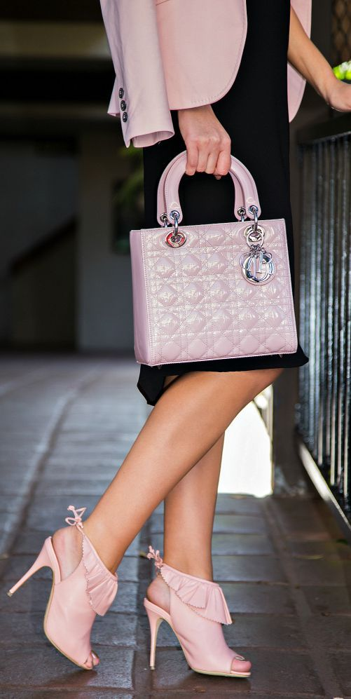 Christian Dior ~ Pink Quilted Leather Handbag