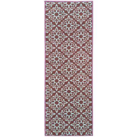 Sweet Home Stores Sweet Home Collection Damask Design Aubergine Indoor and Kitchen Runner Rug, Brown