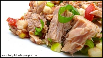 Recipe For Tuna Salad: a healthy tuna salad recipe with green apple and oluve oil!