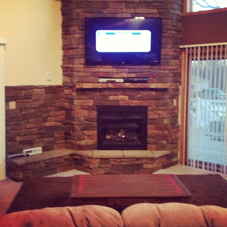 44 Best Images About Corner Fireplace On Pinterest