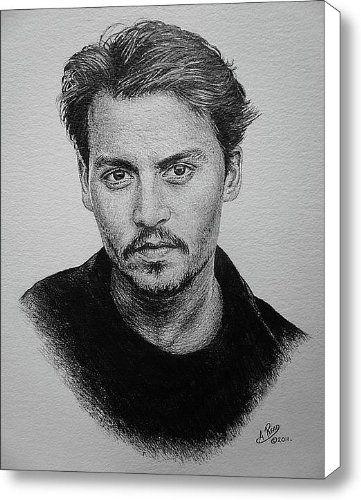 JOHNNY DEPP ORIGINAL Canvas Print / Canvas Art - Artist Andrew Read Fine Art America,http://www.amazon.com/dp/B0091F51IQ/ref=cm_sw_r_pi_dp_2XmMsb1E4Z2W31FH